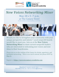 New Voices Networking Mixer - Santa Maria Valley Chamber News