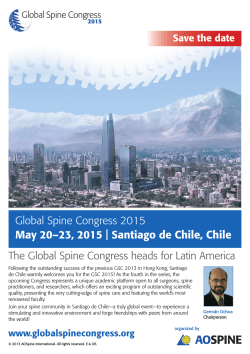 Global Spine Congress 2015 May 20–23, 2015