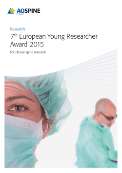 7th European Young Researcher Award 2015