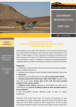 Salahi Gold - Savannah Resources