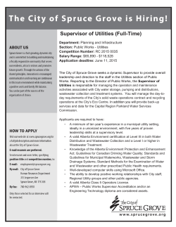 Supervisor of Utilities - Alberta Chapter, Canadian Public Works