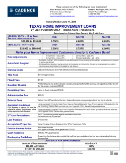 TEXAS HOME IMPROVEMENT LOANS