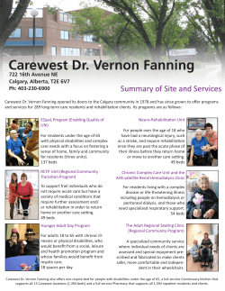 Carewest Dr. Vernon Fanning