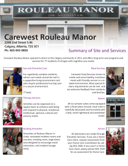 Carewest Rouleau Manor