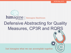 Defensive Abstracting for Quality Measures, CP3R and RQRS