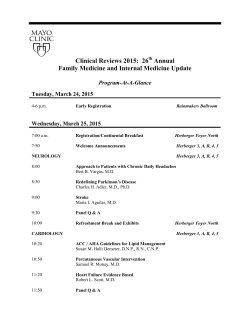 Clinical Reviews 2015: 26 Annual Family Medicine and Internal