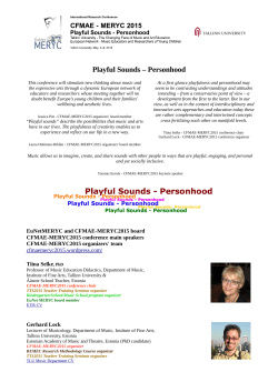 Playful Sounds – Personhood