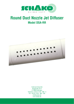 Round Duct Nozzle Jet Diffuser
