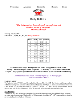 Daily Bulletin - Fairfield Public Schools