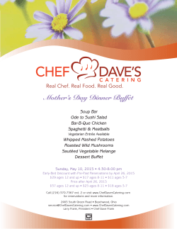a menu - Chef Dave`s Catering