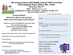 5th Annual Cherry Hill Middle School PTSO Yard Sale 2535