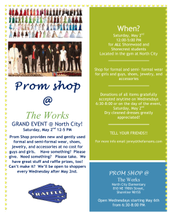 Prom shop The Works - Shoreline School District