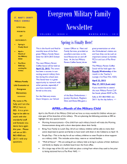 Evergreen Military Family Newsletter - Our Schools