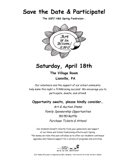 Art in Bloom Sponsorship Information