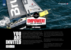 YOU ARE INVITED - Schouten Ocean Race a
