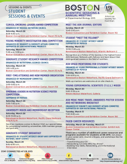 BOSTON - ASN Scientific Sessions & Annual Meeting at EB 2014