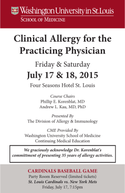 Clinical Allergy for the Practicing Physician