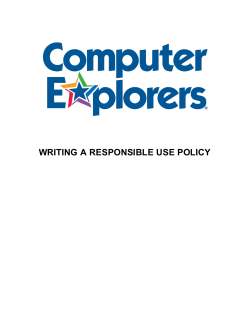 WRITING A RESPONSIBLE USE POLICY