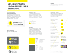 YELLOW PAGES LOGO GUIDELINES BILINGUAL