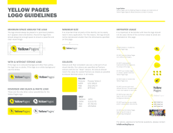 YELLOW PAGES LOGO GUIDELINES