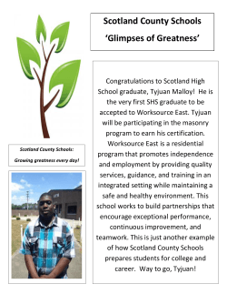 Scotland County Schools `Glimpses of Greatness`