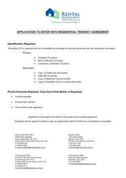 application to enter into residential tenancy agreement