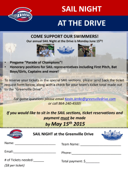 SAIL NIGHT AT THE DRIVE