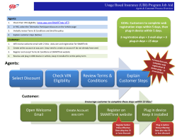 UBI Program Job Aid - Agent and Customer Process Overview