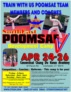 Camp Packet - Connecticut Chung Do Kwan Academy