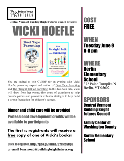Vicki Hoefle event