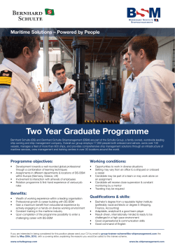 Two Year Graduate Programme