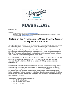 Sisters on the Fly Announces Cross Country Journey Along Historic