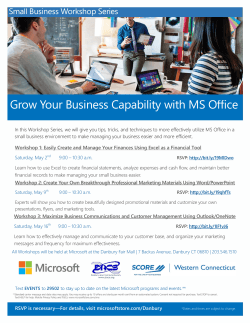 Grow Your Business Capability with MS Office
