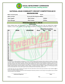 Registration Form - Social Development Commission