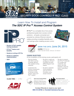 Learn How To Install and Program The SDC IP Pro™ Access