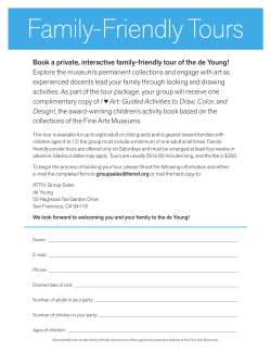 to sign up for family-friendly docent tours
