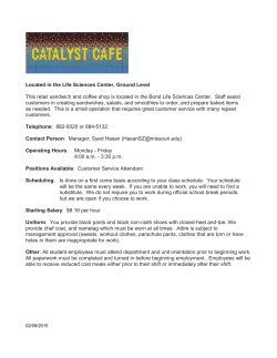 Catalyst Cate - Campus Dining Services at the University of Missouri