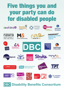 Five things you and your party can do for disabled people