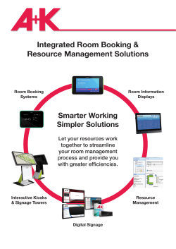 Integrated Room Booking & Resource Management