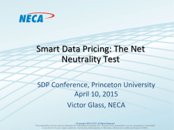 Smart Data Pricing: The Net Neutrality Test
