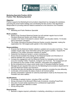 Marketing Specialist position