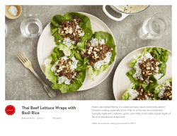 Thai Beef Lettuce Wraps with Basil Rice