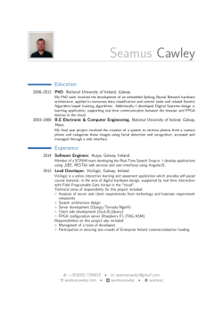 View My CV - Seamus Cawley