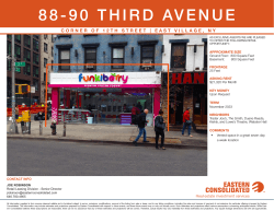 88-90 Third Avenue Retail Leasing Summary