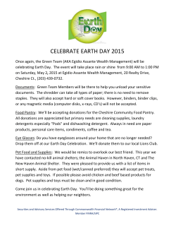 CELEBRATE EARTH DAY 2015 - Commonwealth Financial Network