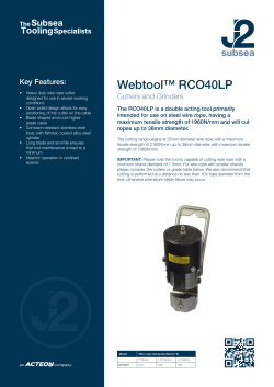 Webtool™ RCO40LP