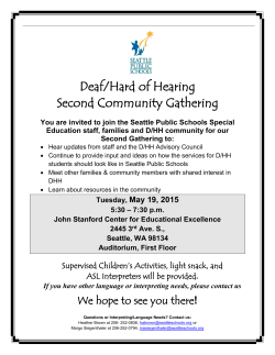 Deaf/Hard of Hearing Second Community Gathering