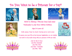 Do You Want to be a Princess for a Day?
