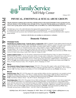 Physical, Emotional & Sexual Abuse - Self-Help Center