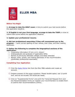 available here - Eller MBA Programs